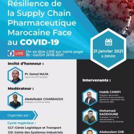 Webinaire sous le thème «Résilience de la Supply Chain Pharmaceutique Marocaine Face au COVID-19 «